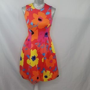 Anne Klein Bright Floral Printed Fit & Flare Dress